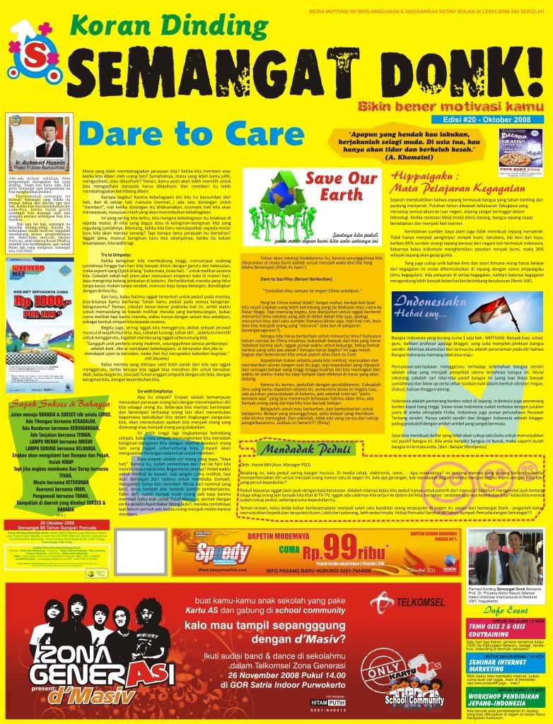 Koran Dinding Dan Majalah Journalist Club Sisma